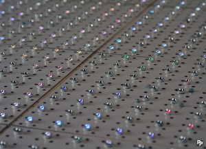 8x8 RGB LED arrays closeup