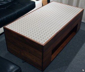 Table with all side panels attached surrounding the polystyrene grid