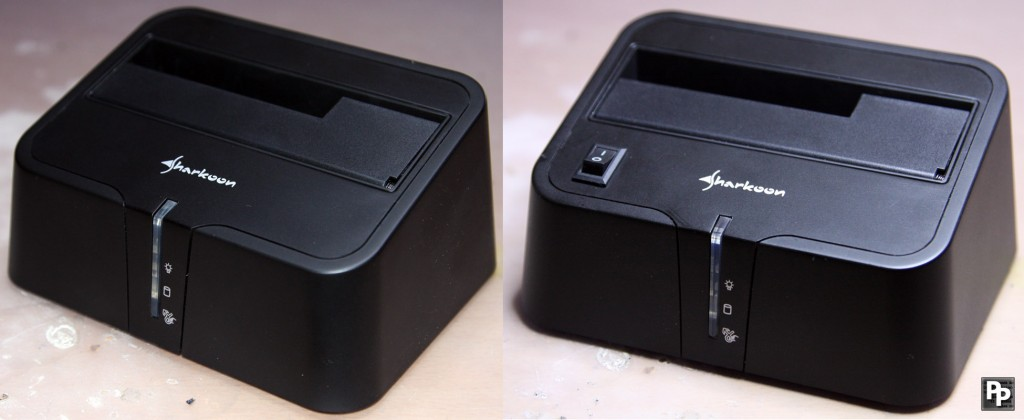 Sharkoon SATA Quickport USB3.0 XT before/after moving the on/off switch from the back to the top part of the docking station